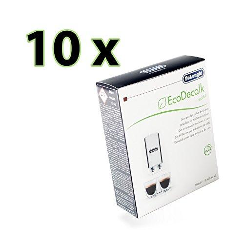 10er Sparpack DeLonghi Entkalker EcoDecalk mini 20x 100ml für Kaffeevollautomaten, Kaffeemaschinen - Nr.: 5513292821 Nokalk