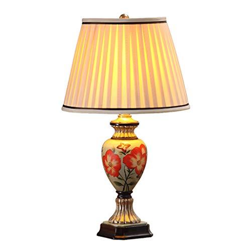 CSQ Creative Résine Lampe De Table, Table De Chevet Bureau Salon Lampe De Jardin Peint À La Main Fleurs Corps Corps 32 * 55 CM E27 Lumière (taille : 32 * 55CM)