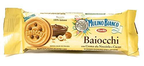 Mulino Bianco Baiocchi Biscotti farciti con crema alla nocciola e cacao 42 porzioni