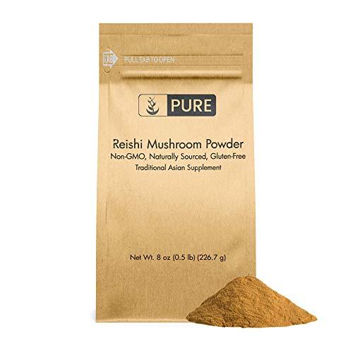 Reishi Mushroom Extract Powder (8 oz) Natural Immune Support, Non-GMO