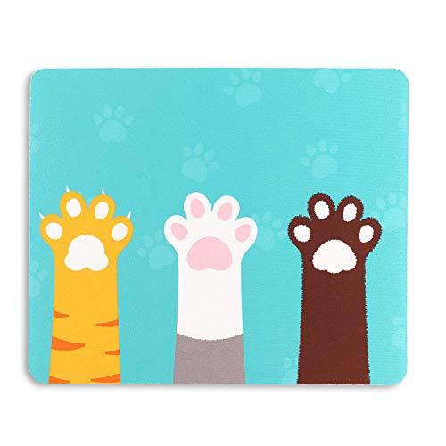 AOKSUNOVA Mauspad Gaming Mouse Pad rutschfest 24 x 20 x 0,3 cm Mauspad mit Katze Motiv Niedliches Design
