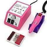 FATUXZ - Taladro de uñas eléctrico para uñas de acrílico, lima de uñas de gel para salón de peluquería (rosa)
