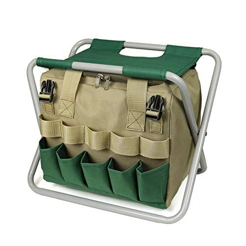 Sgabello pieghevole con borsa per il trasporto, portatile, per attività all'aperto, pieghevole, per spiaggia, viaggi, campeggio, spiaggia, giardino, barbecue, pesca