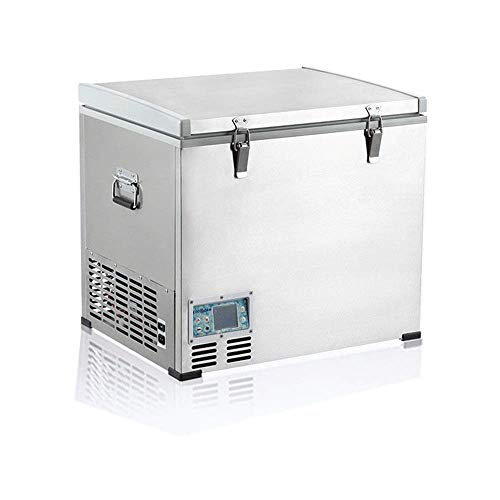 YAMMY Mini refrigerador para automóvil, refrigerador portátil para vehículos de 60 litros, automóvil, camión, Caravana, Bote, Mini refrigerador con congelador para Conducir, Viajar (Silla)