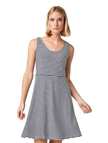 TOM TAILOR Damen 1010444 Kleid, Mehrfarbig (White Navy Stripes 17364), (Herstellergröße:38)
