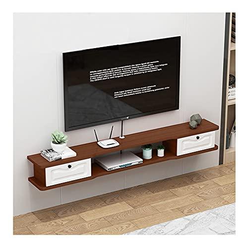 GEREP Mueble de TV Mueble TV Colgante, Adecuado para Sala de Estar, Dormitorio, Oficina, Sala de Juegos, Estilo Moderno/B / 120×24×20cm