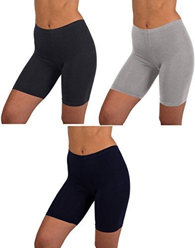 Sexy Basics - Calzas femeninas de algodón para danza, correr, ciclismo y yoga, 6