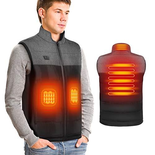 DOACT Chaleco calefactable para hombre Chalecos calefactores eléctricos con carga USB, calefacción...