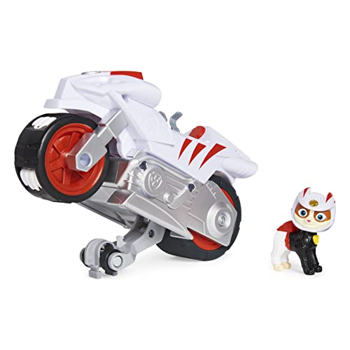 Paw Patrol, Moto Pups Wildcat's Deluxe Pull Back Motorcycle Vehicle with Wheelie Feature and Figure