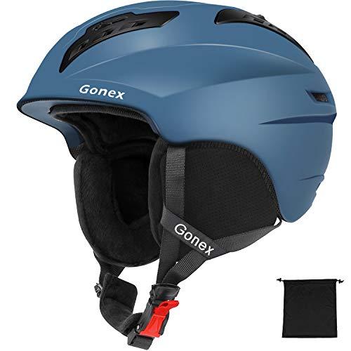 Gonex Skihelm Schneemobil MS-96 Winter Snowboard Helm mit Aufbewahrungstasche für Herren Damen Jung, S/M/L