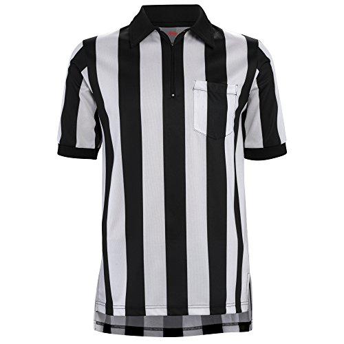 Adams Trikot Schiedsrichter Fußball 2-1/4 Stripe schwarz/weiß, Herren, Adams Shirt Adams Referee FB Short Sleeve 2-1/4 STRIPEBK/WH L, schwarz/weiß, Large