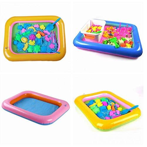 PiniceCore Multifunktions-Schlauchboot Sand Tray Aufblasbare Sandkasten für Kinder Kinder-Indoor-Spielen Sand-Party-Geschenk Hochzeitsgeschenke für die Gäste blau