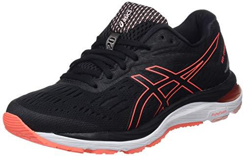 Asics Gel-Cumulus 20, Zapatillas de Entrenamiento para Mujer, Negro (Black/Flash Coral 002), 40 EU