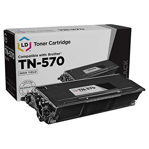 LD Compatible Toner Cartridge Replacement for Brother TN570 High Yield (Black)