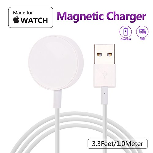 MASOMRUN Charging Cable per Apple Watch,[Apple MFi Certificato] Cavo Magnetico per Apple Watch 1/2/3/4 38mm 40mm 42mm&44mm-3.3Feet (1 Metro) …