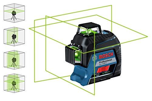 Bosch Professional Linienlaser GLL 3-80 G (grüner Laser, max. Arbeitsbereich: 30 m, 4x AA Batterie, im Handwerkerkoffer) - 3
