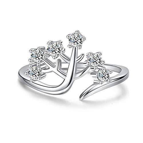 Anillo plata ley 925 diseño árbol vida mujer, anillo