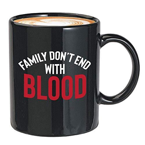N\A Taza de café de la Serie de TV - la Familia no Termina con Sangre - Cita única de Monstruos Fantasma de Winchester Sobrenatural de fantasía Oscura Americana