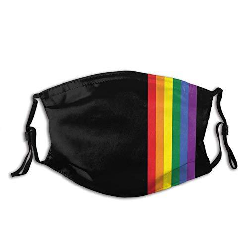 SUOWEI Rainbow Pride Lgbt ansiktsmask vindtät andningsbar återanvändbar tvättad för utomhussport halv ansikte öronslinga