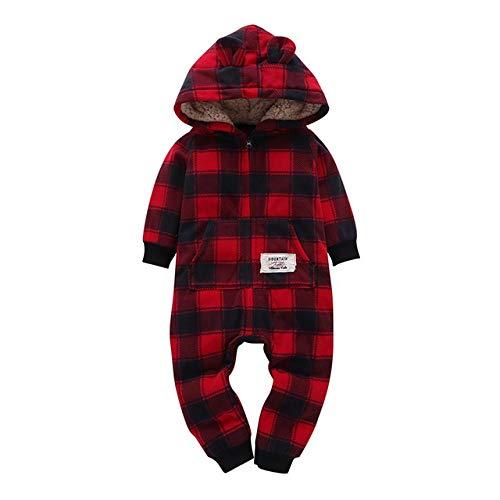 Ybinga Baby inverno vestiti neonato tutine bambino ragazza manica lunga con cappuccio in pile tuta generale neonato abbigliamento Natale per bambino (colore : 11, taglia: 12M)