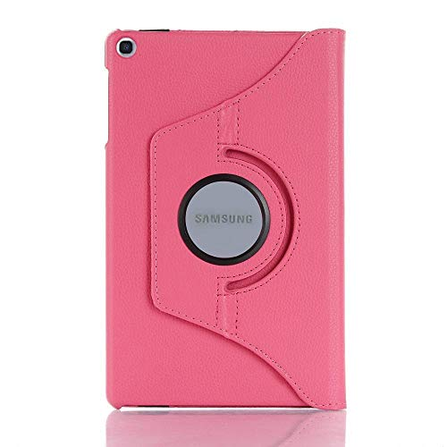 RZL PAD & TAB cases For Samsung Galaxy Tab A 8.0 2019 S Pen SM-P200 P205, 360 Rotation Smart PU Case for Samsung P200 P205 8.0'' (Color : Rose)