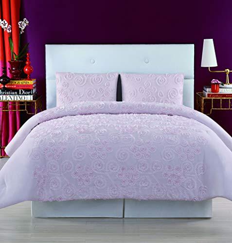Christian Siriano Pretty Petals Doppelbettdecken-Set, Größe XL Steppdecken-Set Full/Queen Blush
