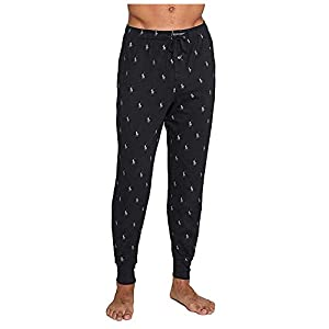 Polo Ralph Lauren Knit Jogger Lounge Pant, L, Polo Black