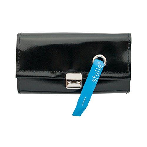 Geldbörse | kleine Kellnerbörse | Kellnergeldbeutel | Portemonnaie | 100% Handarbeit aus LKW-Plane | nachhaltig und vegan (schwarz-blau)