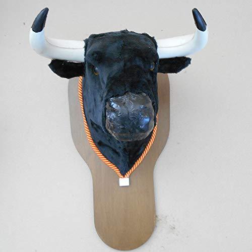 AMBIENTS ARTESANIA TAURINA Replica Cabeza DE Toro DE Colgar DE 60 cm para Decoracion