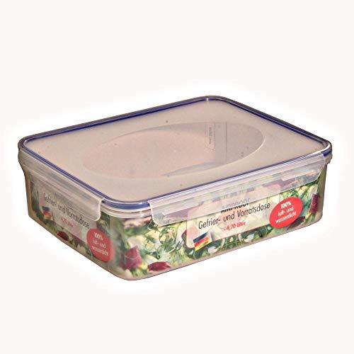 10 Stück AXENTIA Airproof Aufbewahrungsdosen, Vorratsdosen, Frischhalteboxen, Multifunktionsboxen 4,70 Liter eckig 30 x 24,5 x 9,0 cm, Set by Danto®