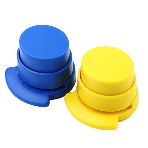 ZHOUBA Mini grapadora sin grapas, color aleatorio
