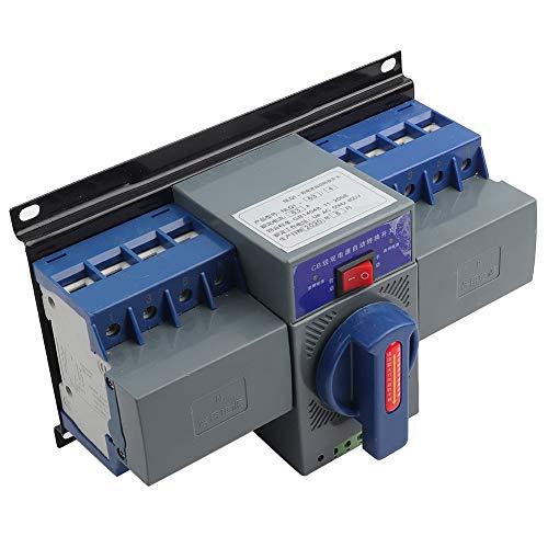 Mini interruptor de transferencia, 63A 4P Interruptor de transferencia automática de doble alimentación de plástico para control de incendios, aeropuerto, estación de TV, centro comercial