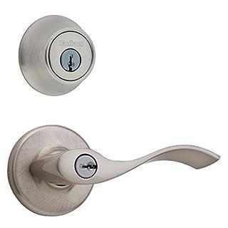 Satin Nickel Finish Interline Brands Legend 809121 US15 Lever Handle Privacy Locket