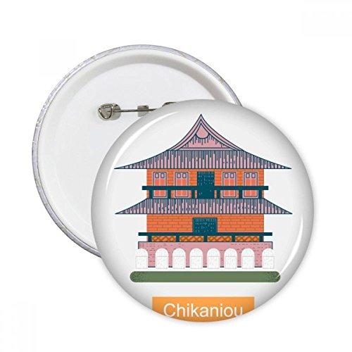 DIYthinker Lugares Taiwán Chikaniou viaje redondo botones insignia del botón 5pcs regalo...