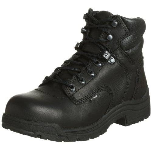 Timberland PRO Women's 72399 Titan 6' Safety-Toe Boot,Black,8.5 M