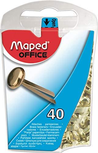Maped 330011Bolsa de patrón de cabeza redonda grapas, de latón, 17mm ⭐