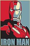Theissen Ironman Hope Marvel Poster Capitán América Avengers Deadpool Arty Effect Bedroom Poster - Póster mate Frameless Gift 11 x 17 pulgadas (28 x 43 cm) *IT-00270