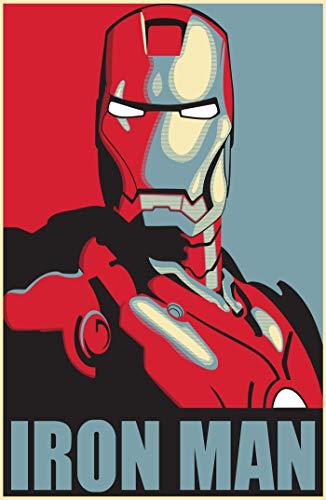 Theissen IronMan HOPE Marvel Poster Capitán América Avengers Deadpool Arty Effect Bedroom Poster - Póster mate Frameless Gift 28cm x 43cm *IT-00270