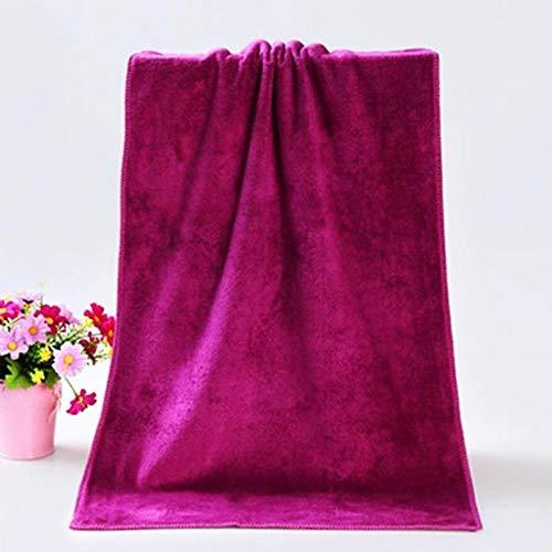 Gbcyp sneldrogende handdoek absorberende microfiber strand dikke badhanddoek badjas volwassen badkamer, wijnrood, 35x75cm