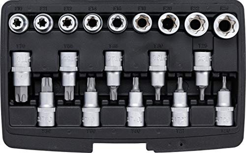 Kraftmann 95100 | bitinzet-/dopsleutelset | aandrijving binnenzeskant 12,5 mm (1/2
