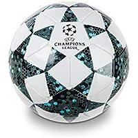 Mondo Toys – Balón de fútbol para Hombre – UEFA Champions League – Talla 5 – 400 g – Color: Blanco/Negro/Azul – 13846