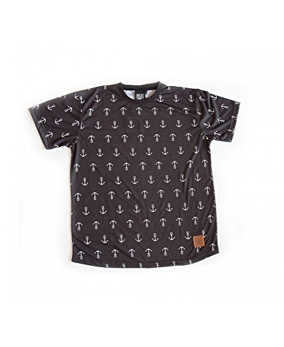 Camiseta Great Times Full Anclas Negro - Color - Negro, Tallas - M