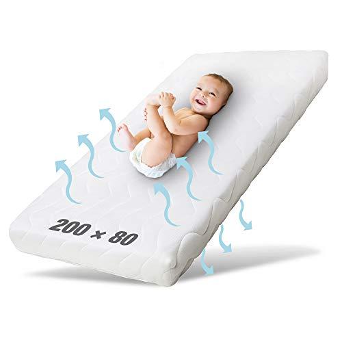 Ehrenkind® Kindermatratze Pur | Baby Matratze 80x200 | Babymatratze 80x200 aus hochwertigem Schaum und Hygienebezug