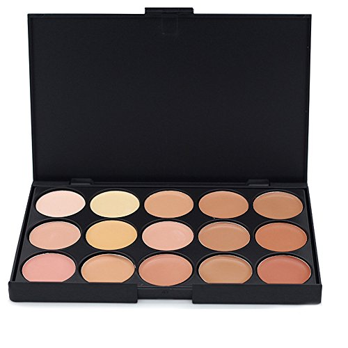 JasCherry Palette correcteur crème de camouflage 15 couleurs - cosmétique Camouflage Crème de Professionnelle Set Kit #2