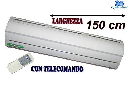 Barriera d'aria elettrica centrifuga cm.150 - telecomando in dotazione