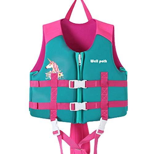 IvyH Gilet da Nuoto Bambini, Giubbotto da Nuoto Neoprene Assistenza al Nuoto Giubbotto Galleggiante...