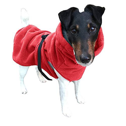 Qianxitang Pet Dog Sweater Winter Pajamas Soft Sweater Young Dog and Medium Dog Sweater Coat (Large,Pink)
