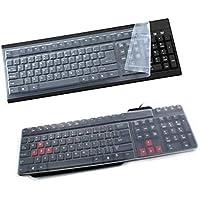 Brussels08 - Funda universal de silicona para teclado de ordenador de sobremesa, impermeable, antipolvo, para 108 teclas, PC transparente transparente Mediano