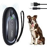 Antibell für Hunde, Ultraschall Handheld Anti Bell Gerät Bellenstopper Wasserdichter Antibell für Hunde LED-Licht Sicheres Menschliches Anti-Barking-Gerät für Welpen Die Meisten Hunde Ultraschall