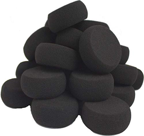 Face Painting Black Sponges High Density 24 Round Pieces for Art Work and Body Painting